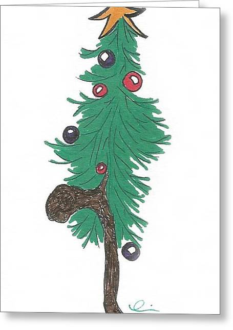 Star Christmas Tree Greeting Card