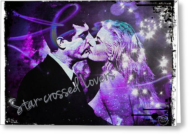 Star-crossed Lovers Greeting Card by Absinthe Art By Michelle LeAnn Scott
