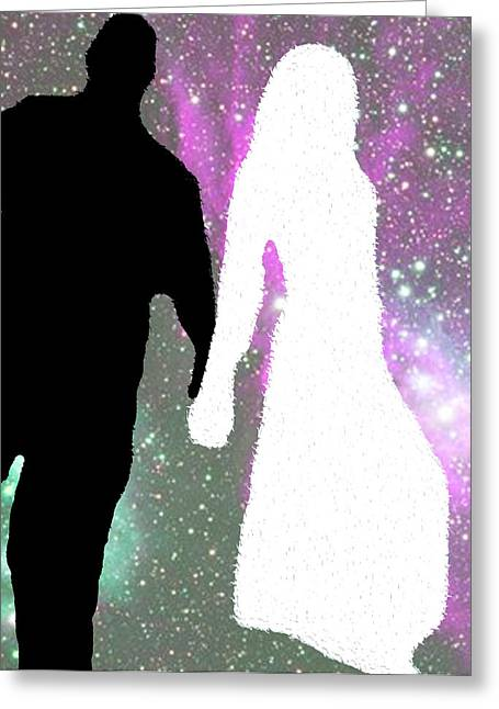 Star-crossed Lovers Greeting Card by Jimi Bush