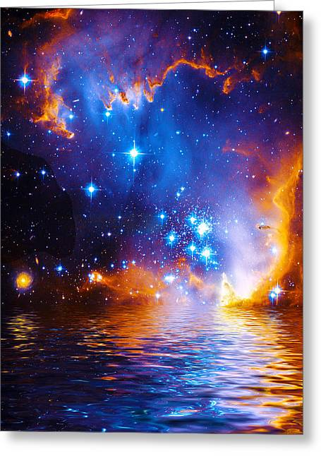 Stars As Diamonds Greeting Card