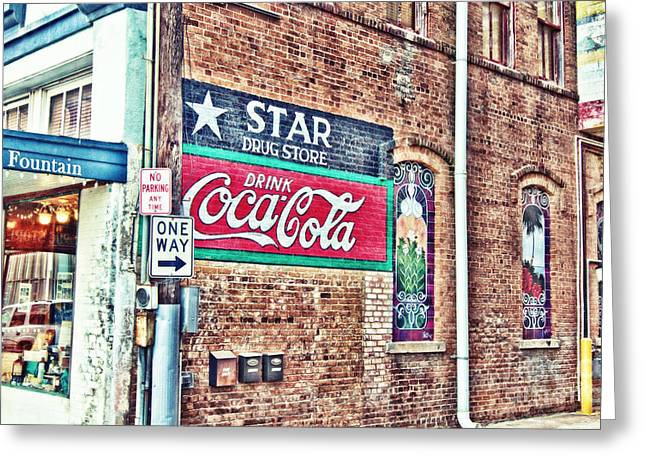 Star Drug Store Wall Sign - Hdr Greeting Card by Scott Pellegrin