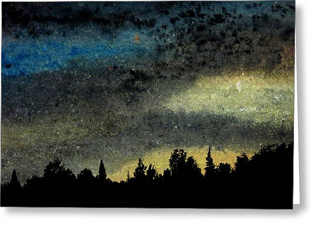 Star Filled Sky Greeting Card by R Kyllo
