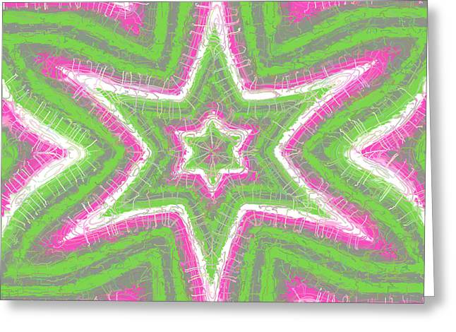 Star Flower Greeting Card by Methune Hively