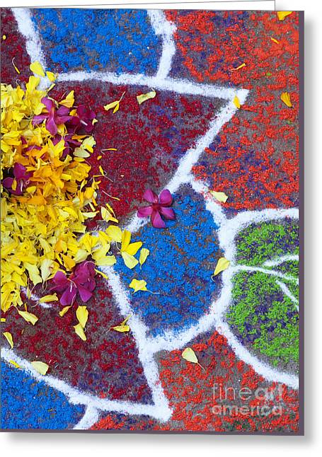 Star Flower Rangoli Design  Greeting Card