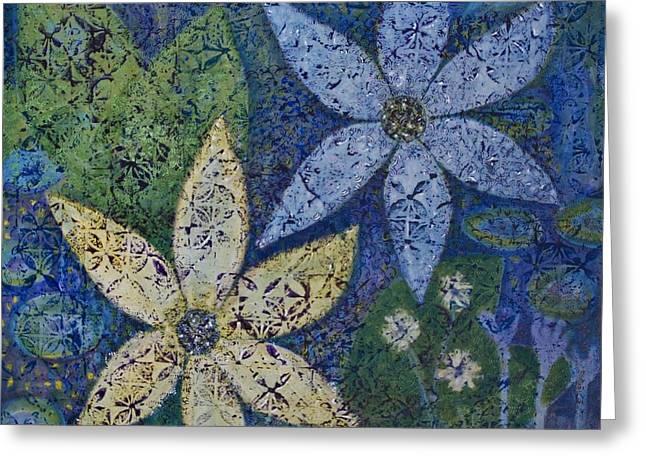 Star Flowers Greeting Card by Jennifer Grace