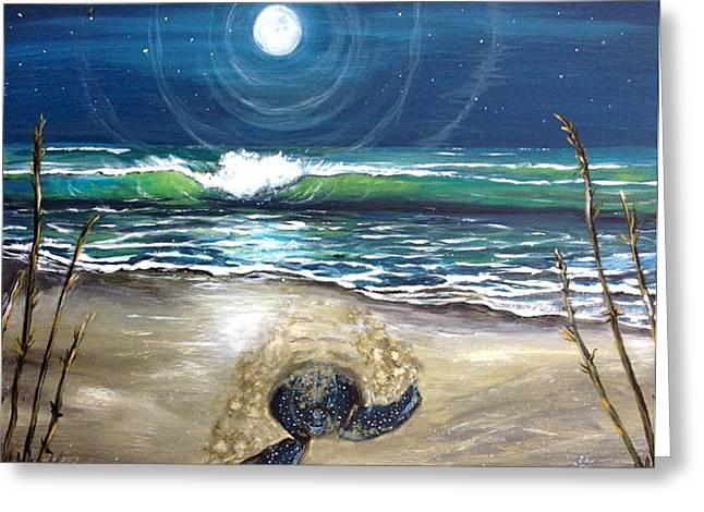 Greeting Card featuring the painting Star Gazer by Dawn Harrell