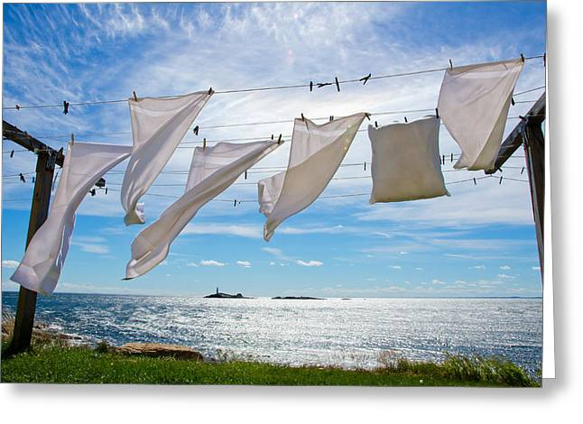 Star Island Clothesline Greeting Card