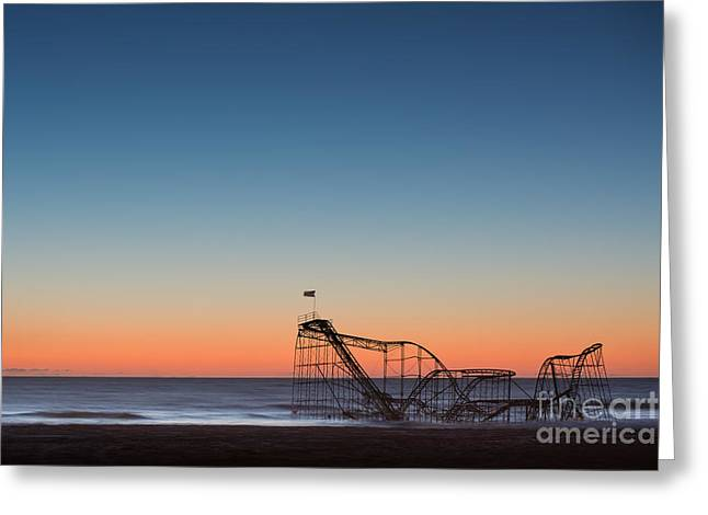 Star Jet Roller Coaster Hdr Greeting Card by Michael Ver Sprill