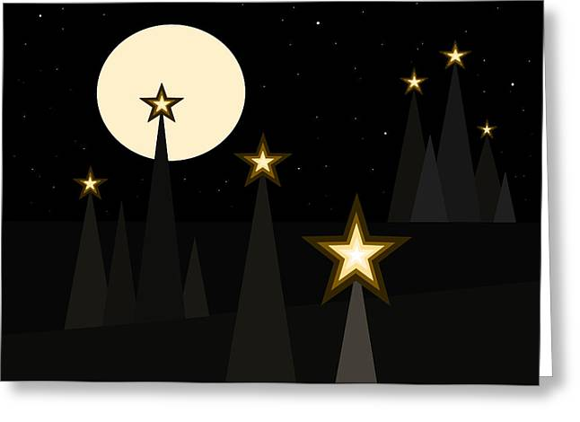 Star Light II Greeting Card by Val Arie