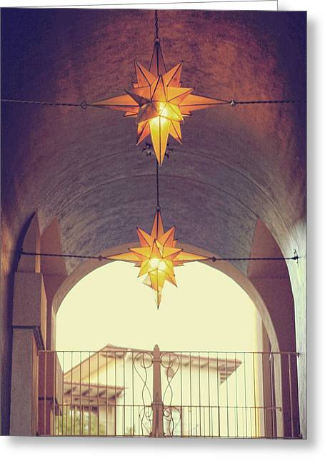 Star Lights Greeting Card by Heather Green