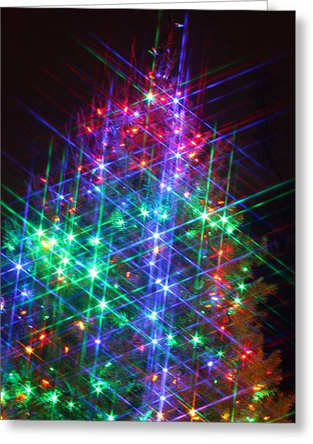 Greeting Card featuring the photograph Star Like Christmas Lights by Patrice Zinck