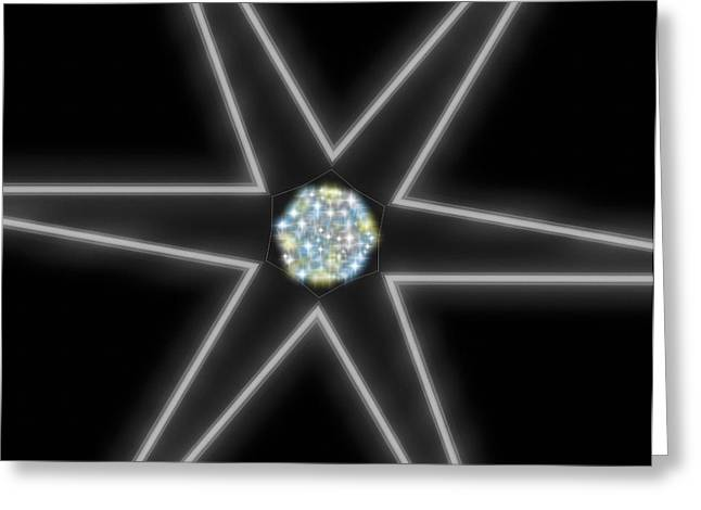 Star Of Creation Digital Art By Saribelle Rodriguez Greeting Card
