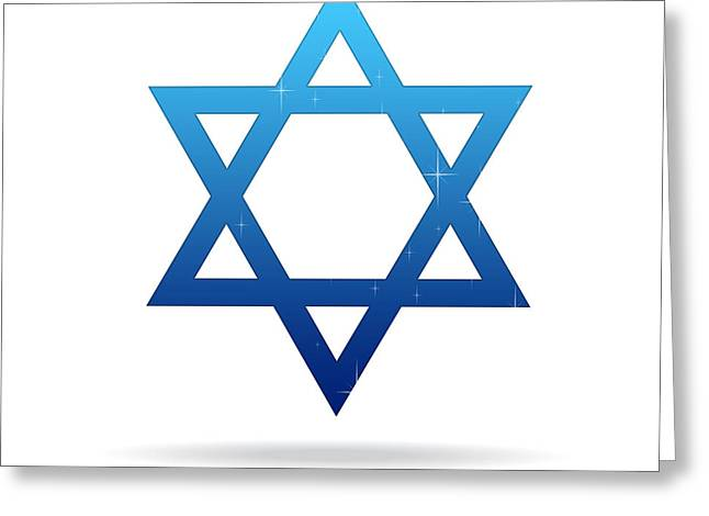 Star Of David Greeting Card by Aged Pixel