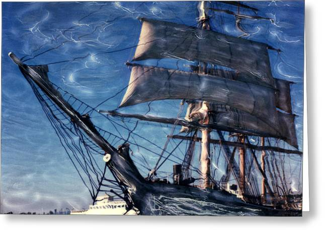 Star Of India Ghost Ship Greeting Card