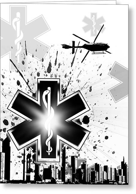 Star Of Life Greeting Card by Melissa Smith