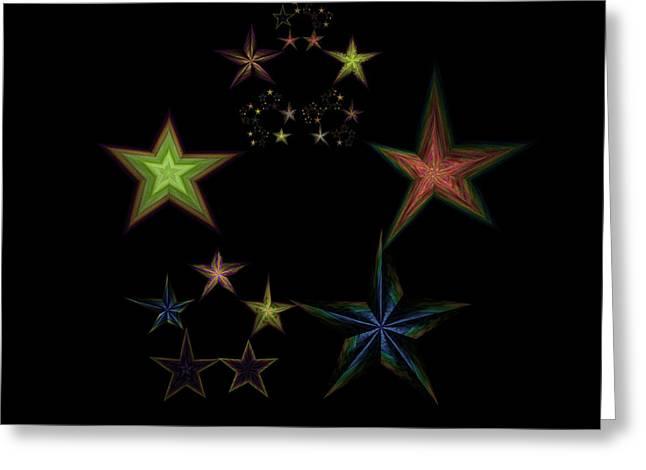 Star Of Stars 01 Greeting Card by Sora Neva