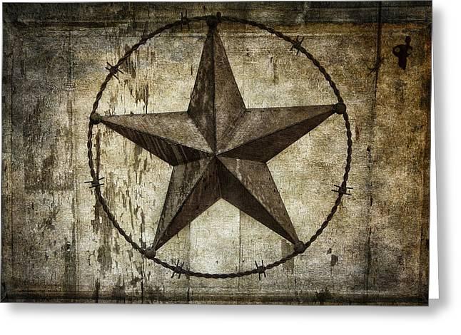 Star Of Texas Greeting Card by Daniel Hagerman
