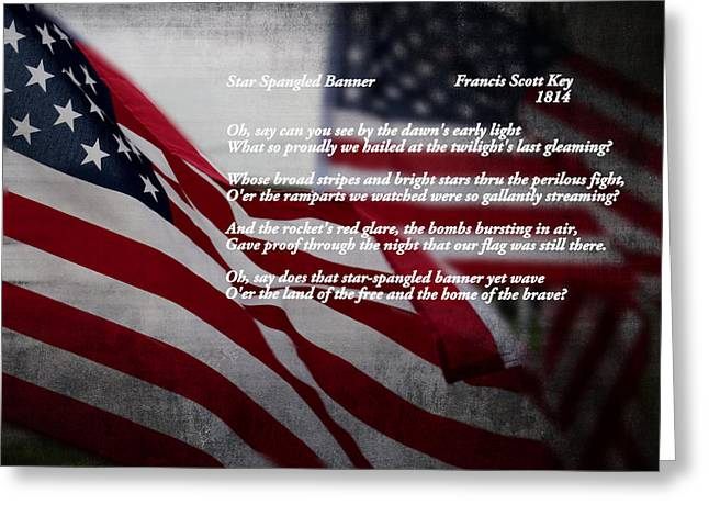 Star Spangled Banner  Greeting Card by Ella Kaye Dickey