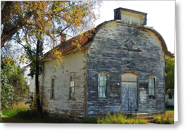 Star Township Building Greeting Card by Mikel Classen