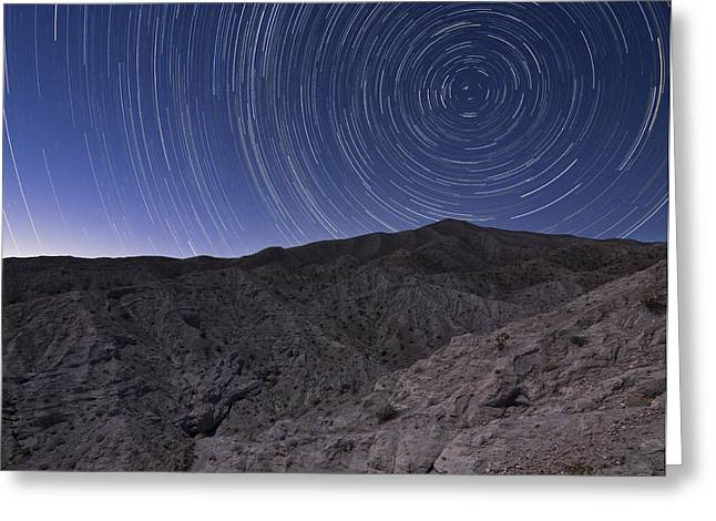 Star Trails Above Coachwhip Canyon Greeting Card by Dan Barr