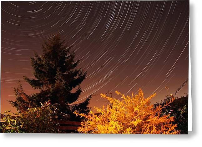 Star Trails Greeting Card by Jay Harrison