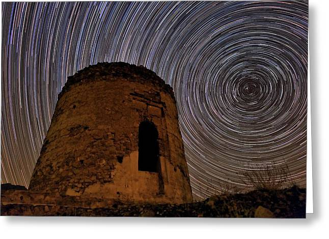 Star Trails Over Alborz Mountains Greeting Card by Babak Tafreshi