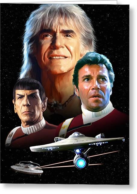 Star Trek II - The Wrath Of Khan Greeting Card by Paul Tagliamonte