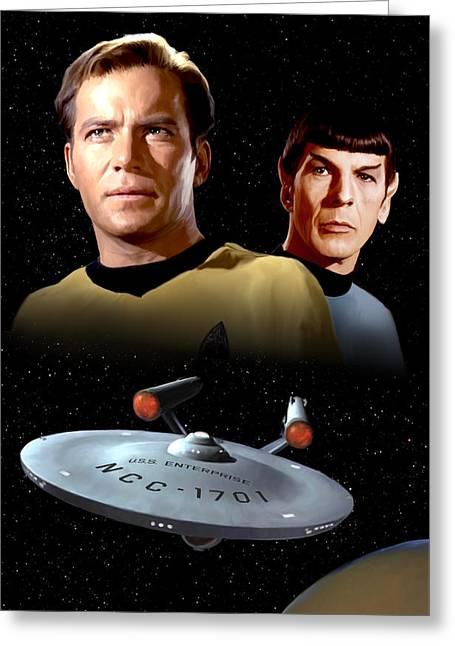 Star Trek - The Original Series Greeting Card by Paul Tagliamonte