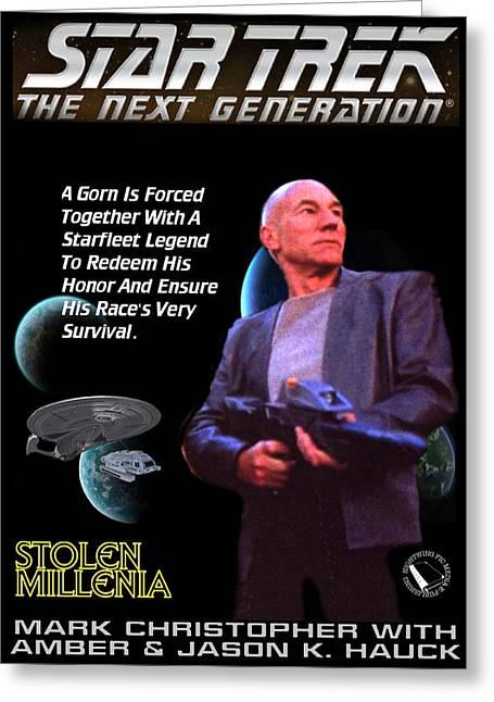 Star Trek Tng - Stolen Millenia Greeting Card by Jason Hauck