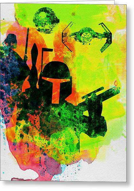 Star Warriors Watercolor 3 Greeting Card