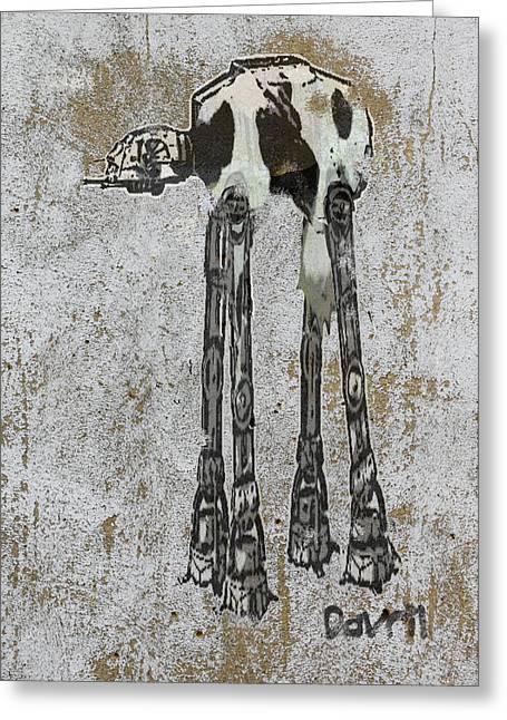 Star Wars At-at Cow Graffiti Greeting Card