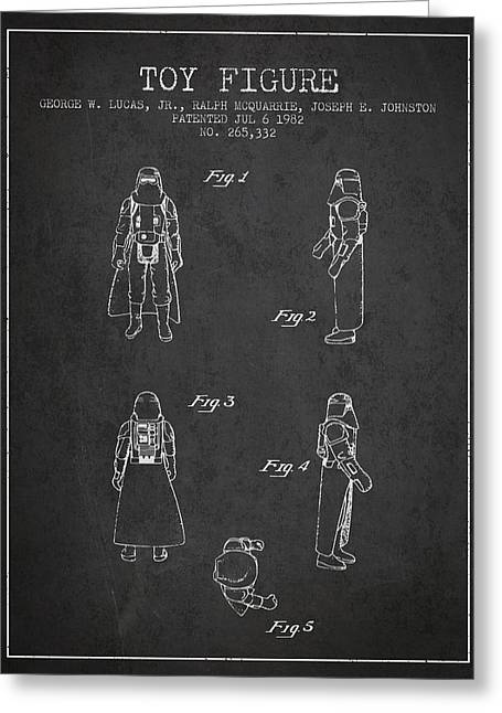 Star Wars Darth Vader Patent From 1982 - Charcoal Greeting Card
