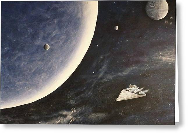 Star Wars Mural Greeting Card
