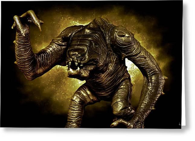 Star Wars Rancor Monster Greeting Card by Nicholas  Grunas