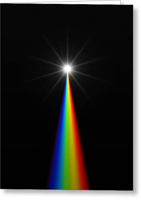 Starburst And Spectrum Greeting Card by David Parker