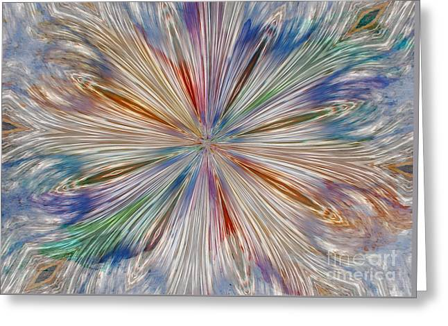 Greeting Card featuring the photograph Starburst by Geraldine DeBoer