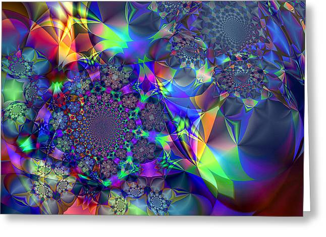 Starcluster 1 Greeting Card by Ursula Freer
