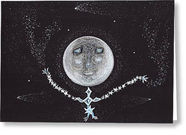 Stardust Moon Greeting Card by Jim Taylor