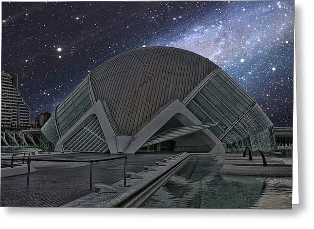 Greeting Card featuring the photograph Starfall On Planetary by Angel Jesus De la Fuente