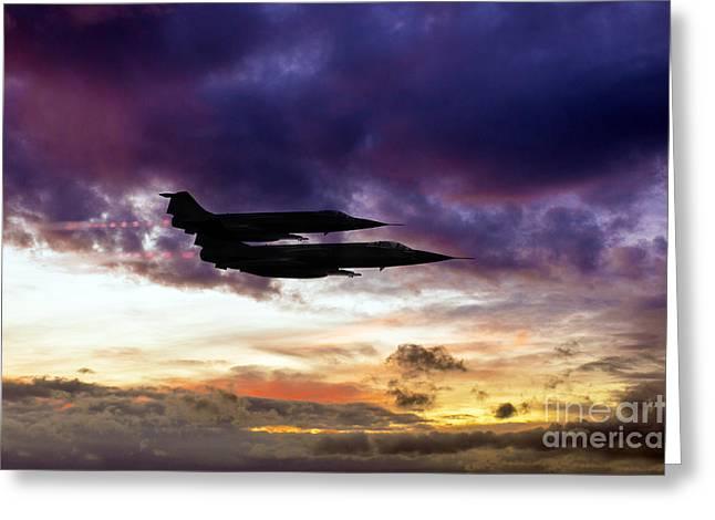 Starfighters Greeting Card by J Biggadike