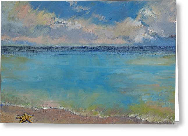 Starfish Greeting Card by Michael Creese