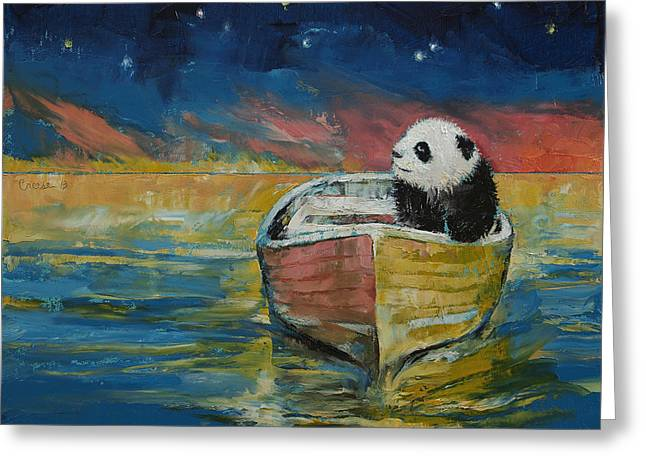 Stargazer Greeting Card by Michael Creese