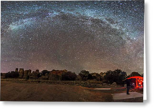 Stargazing At City Of Rocks State Park Greeting Card by Alan Dyer