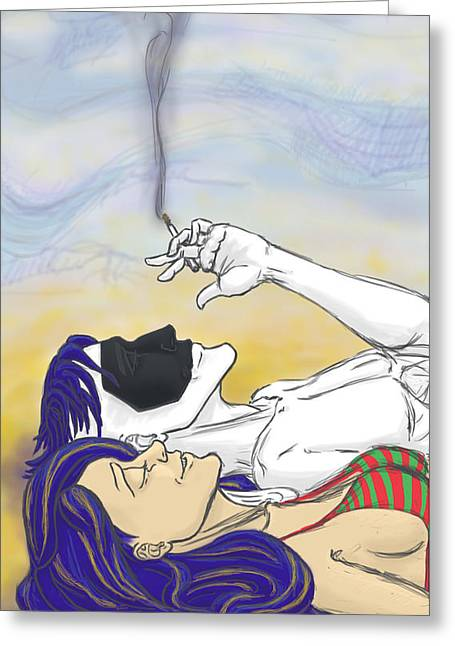 Staring At The Clouds 1 Greeting Card