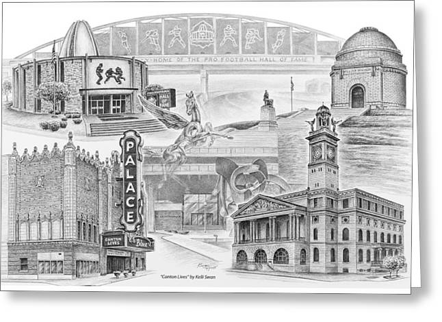 Stark County Ohio Print - Canton Lives Greeting Card by Kelli Swan