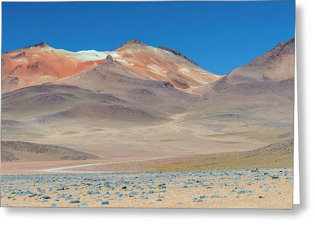 Stark Mountain Landscape In The High Greeting Card by Panoramic Images