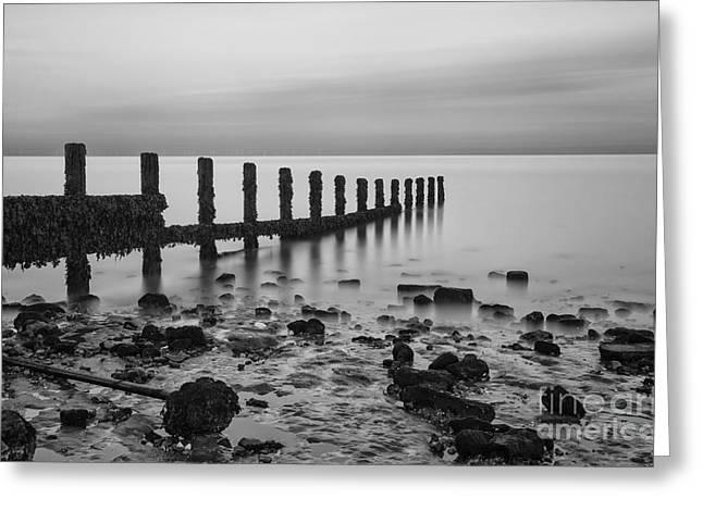Stark Seascape Greeting Card by Nigel Jones