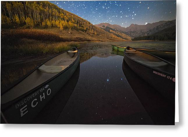Starlight Discovery At Piney Lake Greeting Card by Mike Berenson