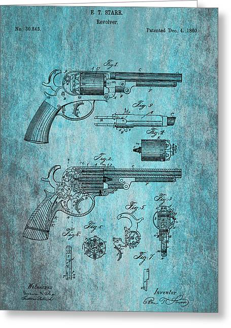 Starr Revolver Greeting Card by Georgia Fowler