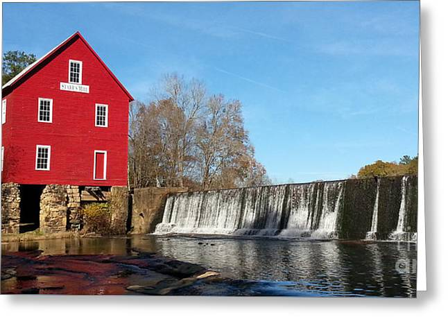 Starr's Mill In Senioa Georgia Greeting Card by Donna Brown